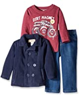 Kids Headquarters Baby Boys' Fleece Jacket with Tee and Jeans