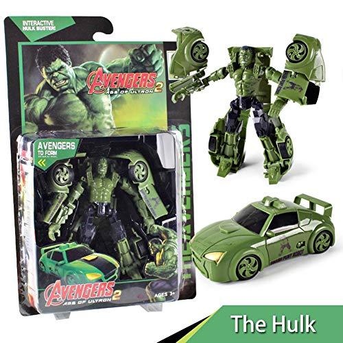 QXYA Avengers League 7 Inch Deformation Toy Series Exclusive-Iron Man Captain America Thor Truck Robot Hulk Autobot Car Robots Cars Deformation Toy for Boy Kids Children GiftThe Hulk]()