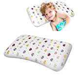 """SMELOV Baby Toddler Nursing Pillow Prevent Flat Head,Memory Foam Head Pillow(17""""x11"""")Support Head and Neck,Anti Roll Sleep Safe for Infant in Bed,Cot,Crib and Pushchair."""