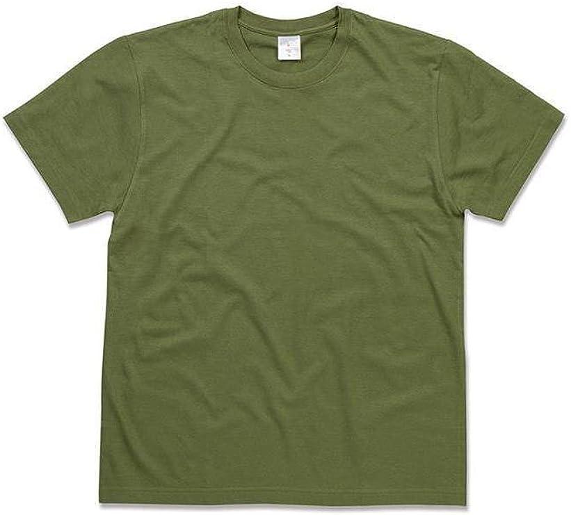 ATELIER DEL RICAMO - Camiseta Deportiva - para Hombre Verde Militar: Amazon.es: Ropa y accesorios
