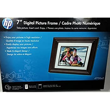 Amazon Com Hp 7 Quot Digital Picture Frame Df730a2 Camera Amp Photo