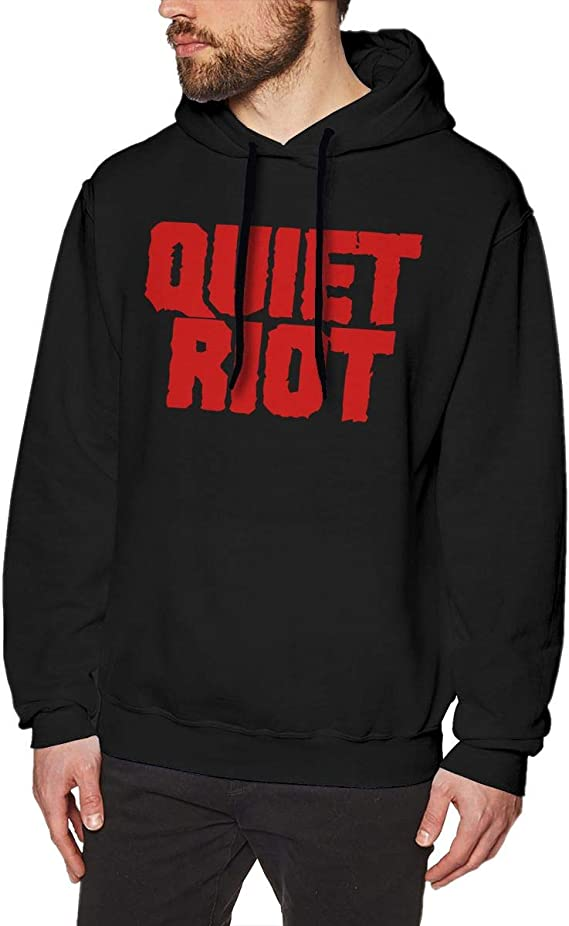 COURTNEY FRANCIS Quiet Riot Particular Mens Long Sleeve Sweatshirts Mans Hoodies Black