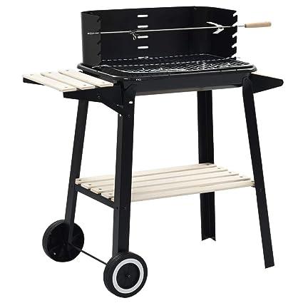 Festnight- Barbacoa de carbón BBQ Parrilla de Madera con ...
