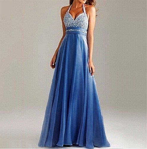 Strandkleid maxi blau