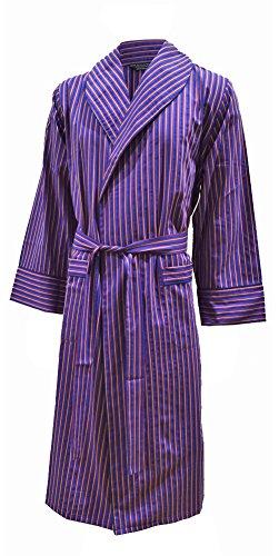 Lloyd Attree & Smith Men\'s Lightweight Cotton Dressing Gown - Blue ...