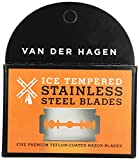 Van Der Hagen Stainless Steel Razor Blades, 5 Count (Pack of 6)