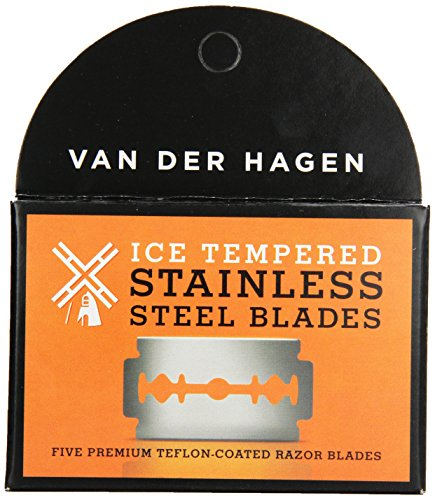 Van Der Hagen Stainless Steel Razor Blades, 5 Count (Pack of 6) by Van der Hagen