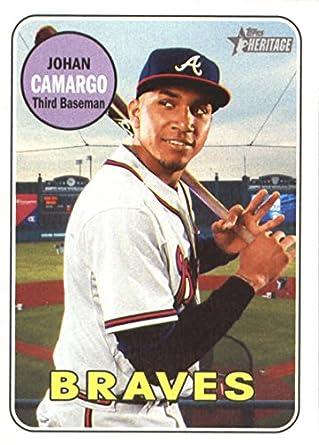 Amazoncom 2018 Topps Heritage Baseball 141 Johan Camargo