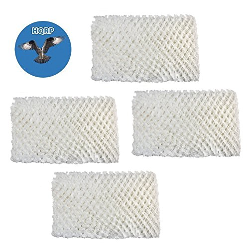 Price comparison product image HQRP Humidifier Wick Filter for Sears Kenmore 14909 / 14912,  Emerson HDC-2R & HDC-411,  BestAir E2R Replacement,  4-pack