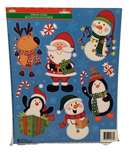 [Christmas Seasons Greetings Happy Holiday Decoration Decor Window Cling Decorations Stickers PENGUINS] (Homemade Kids Penguin Costumes)