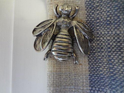 NEW ITEM BEE CURTAIN PIN SET OF 2PCS ANTIQUE SILVER CP-409AS