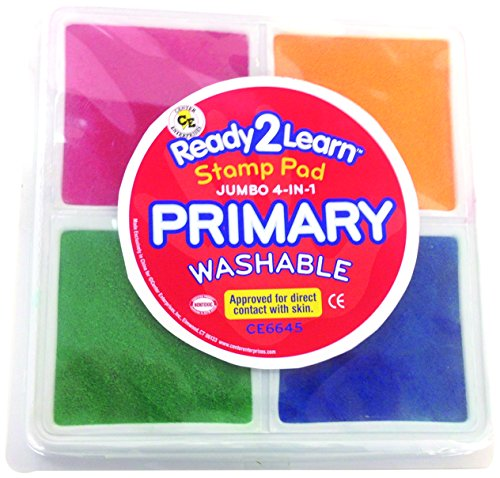 Center Enterprise CE6645 Jumbo Primary Washable 4 in 1 Stamp - Primary Ink