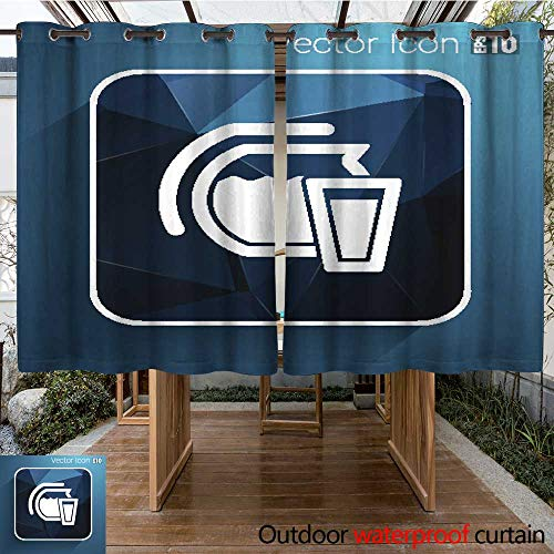 Outdoor Curtain for Patio Glass Pitcher Logo Vector icon Compote Juice W55 x L72