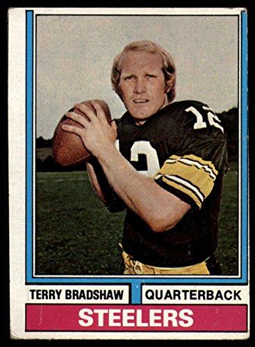 Football NFL 1974 Topps #470 Terry Bradshaw VG Very Good Steelers (1974 Topps Football)