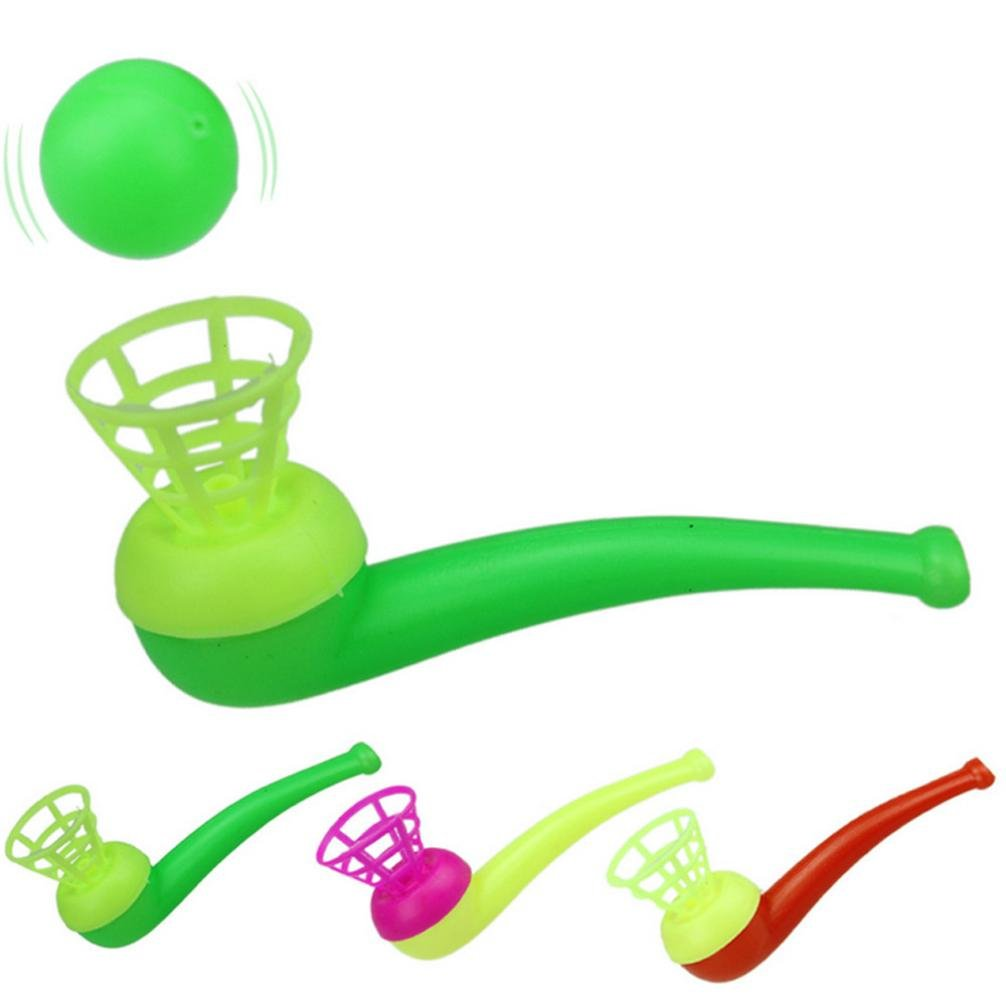 3Pcs magic floating ball game kids gift toys blow pipe balls for party game XM
