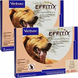 Virbac Effitix Topical Solution for Dogs 4588.9 lbs. 6 Months