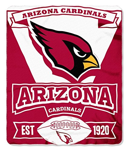 NFL Officially Licensed 50 X 60 Marque Fleece Throw Blanket (Arizona Cardinals)