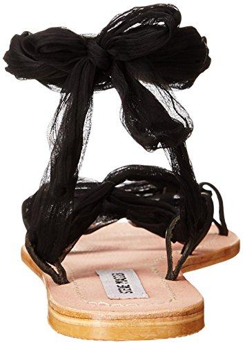Steve Madden Womens Jovanna Gladiator Sandal Black Leather