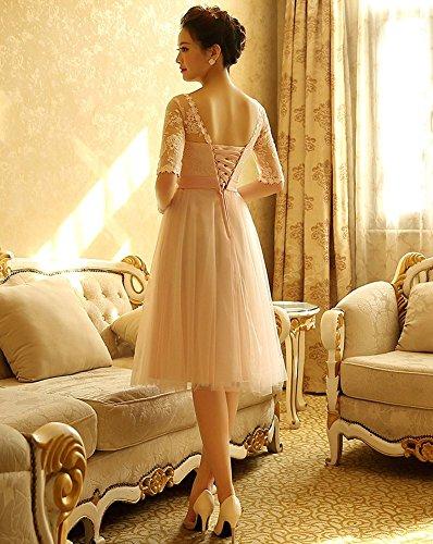 Mujer 1 Drasawee Trapecio Vestido Para Pink ZwqUvtq