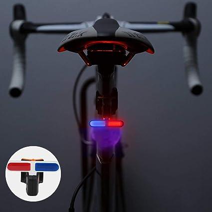 Maso - Luz trasera de bicicleta recargable USB de alto lúmenes ...