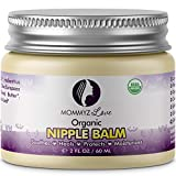 Best Nipple Cream for Breastfeeding Relief (2 oz) - Provides Immediate Relief To Sore, Dry And Cracked Nipples Even After A Single Use - PEDIATRICIAN TESTED - USDA Certified Organic