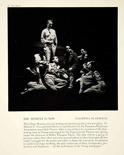 1943 Print The Moment Is Now Pasadena Playhouse Theater Hallie Flanagan YTA2 - Original Halftone Print