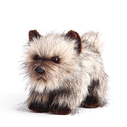 DEMDACO Grumpy Large Cairn Terrier Dog Wispy Brown Children's Plush Stuffed Animal -
