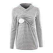 Pinkydot Women's Nursing Hoodie Long Sleeves Casual Top Breastfeeding Clothes