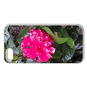 Poncho Joba - Case Cover for iPhone 5 and 5S (Flowers Series, Watercolor style, White)