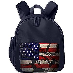 YuHua Statue Of Liberty US Flag Kindergarten School Backpack Daypack Rucksack For Kids