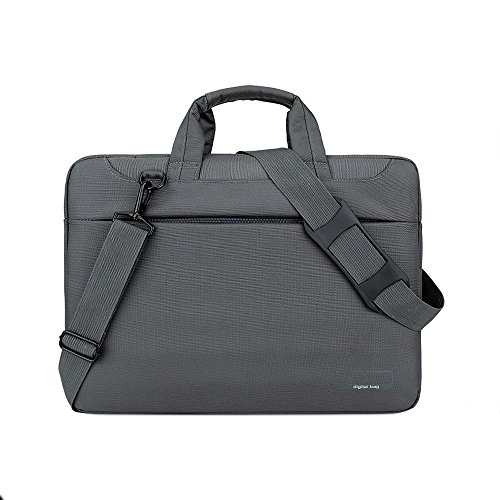 Jia Hu 1Pc Laptop Briefcase Tote Messenger Bag Notebook Document Organizer for Business College Dark Gary
