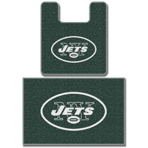 - The Northwest Company New York Jets Two (2) Piece Bathroom Rug Set
