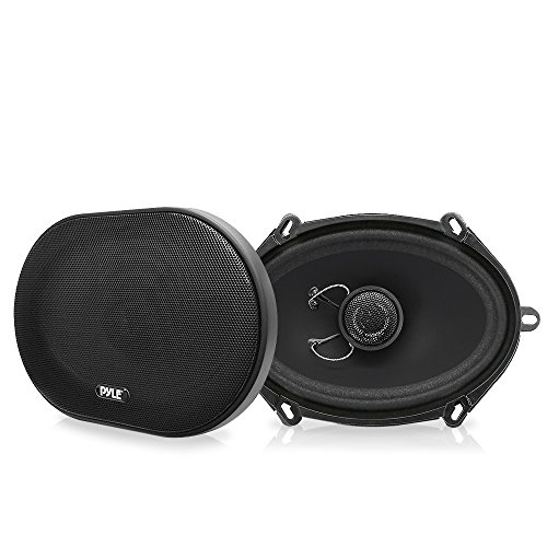 Pyle PLSL5702 Plus Series 5 x 7 / 6 x 8 Inch 180 Watt Slim Mount 2-Way Coaxial Speakers - Set of 2