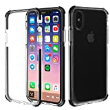 iPhone X Case Clear with Slim Hybrid Protection and Premium Clarity - Designed Specifically for iPhone 10 - Crystal Clear