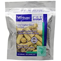 Virbac C.E.T. Masticables de higiene oral enzimática para gatos, sabor a pescado, 30 unidades
