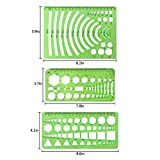 10 Pieces Green Plastic Drawings Templates