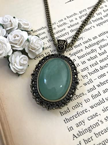 Stunning Vintage Look Bronze Plated Fairy Girl Cameo Necklace New in Gift Bag