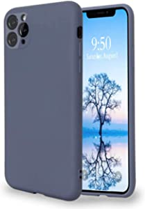 Horus Products Liquid Silicone Case Compatible with iPhone 11 Pro Max 6.5 inch, Full Body Protection Shockproof and Drop Protection Case, Cover for Each Camera Lens and Microfiber Lining (Gray)