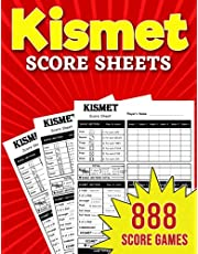 Kismet Score Sheets: 888 Large Score Pads for Scorekeeping – Kismet Score Cards | Kismet Score Pads with Size 8.5 x 11 inches
