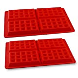 PROINTxp® Silicone Waffle Mould, Bakeware Set Nonstick Silicone Baking Mold Set making for 8 Waffles in a Single Batch