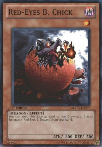 Dragon Chick - Yu-Gi-Oh! - Red-Eyes B. Chick (SDDC-EN007) - Structure Deck: Dragons Collide - 1st Edition - Common