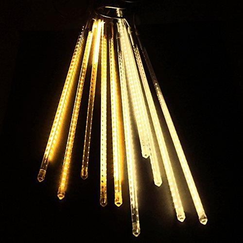 電光ホーム イルミネーション つらら スノーフォール ライト 80cm 10本 (ゴールド) B01N3R22ZD 16470 ゴールド ゴールド
