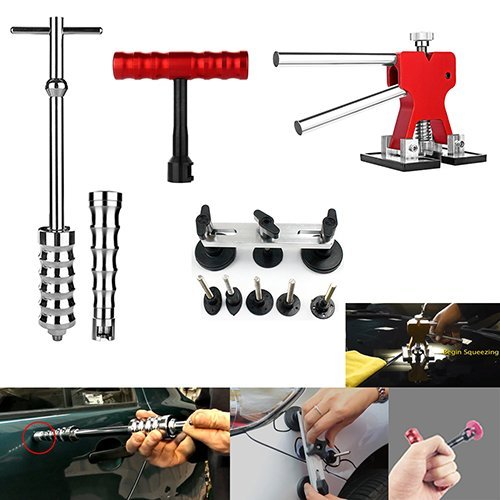 Wcaro 60pcs PDR Tools Paintless Dent Repair Tools Dent Remover Hail Repair Tools Kit Dent Removel Kit PDR Tool Kit Slide Hammer Bridge Puller Glue Dent Puller Tabs Line Board Glue Gun Car Dent Repair by Wcaro (Image #1)