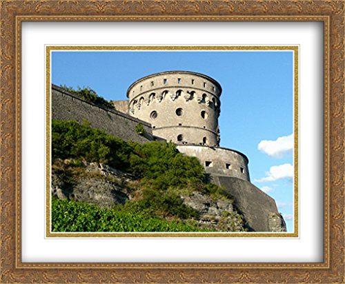 - Fortress Marienberg in Wurzburg, Germany 2X Matted 34x28 Large Gold Ornate Framed Art Print by The Cityscape Art Print Series