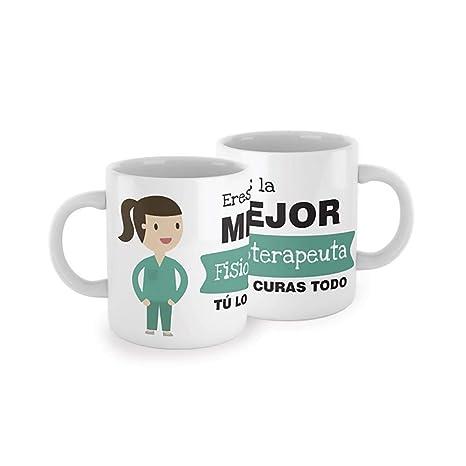 SUPERMOLON Taza Eres la Mejor fisioterapeuta: Amazon.es: Hogar