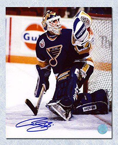 AJ Sports World Curtis Joseph St. Louis Blues Autographed CUJO Glove Save 8x10 Photo