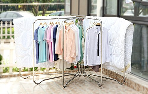 Folding clothes rack/stainless steel/drying rack/outdoor dry