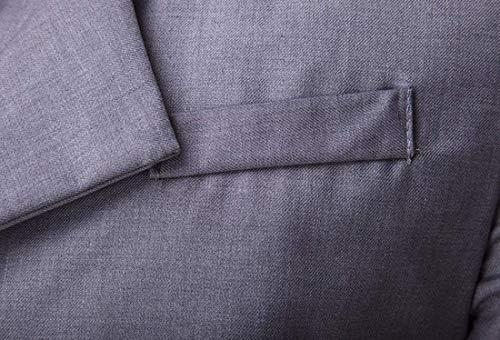 Slim Hellgrau Stand Fit Abiti Lavoro Tempo Da Libero Hx Fashion Il Taglie Capispalla Comode Jacket Elegante Blazer Uomo Giacca Colletto Per P6pqRH