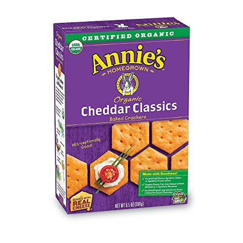 Annie Peanut (Annie's Organic Classic Crackers, Cheddar, Baked Cheese Snack, 6.5 oz Box (Pack of 6))