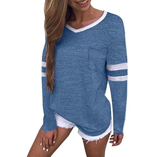 Clearance Women Shirt LuluZanm Long Sleeve Pocket Blouse Summer Casual Tops T Shirt ()